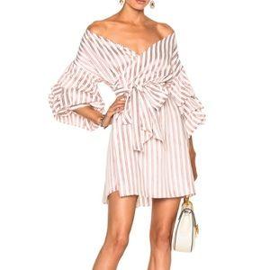 Alexis Maren Off-the-Shoulder Wrap Dress, M